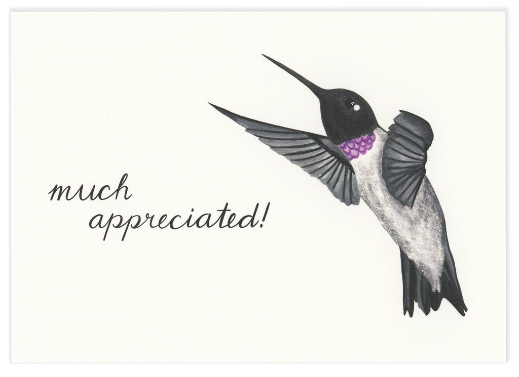 Much Appreciated!  Notecard