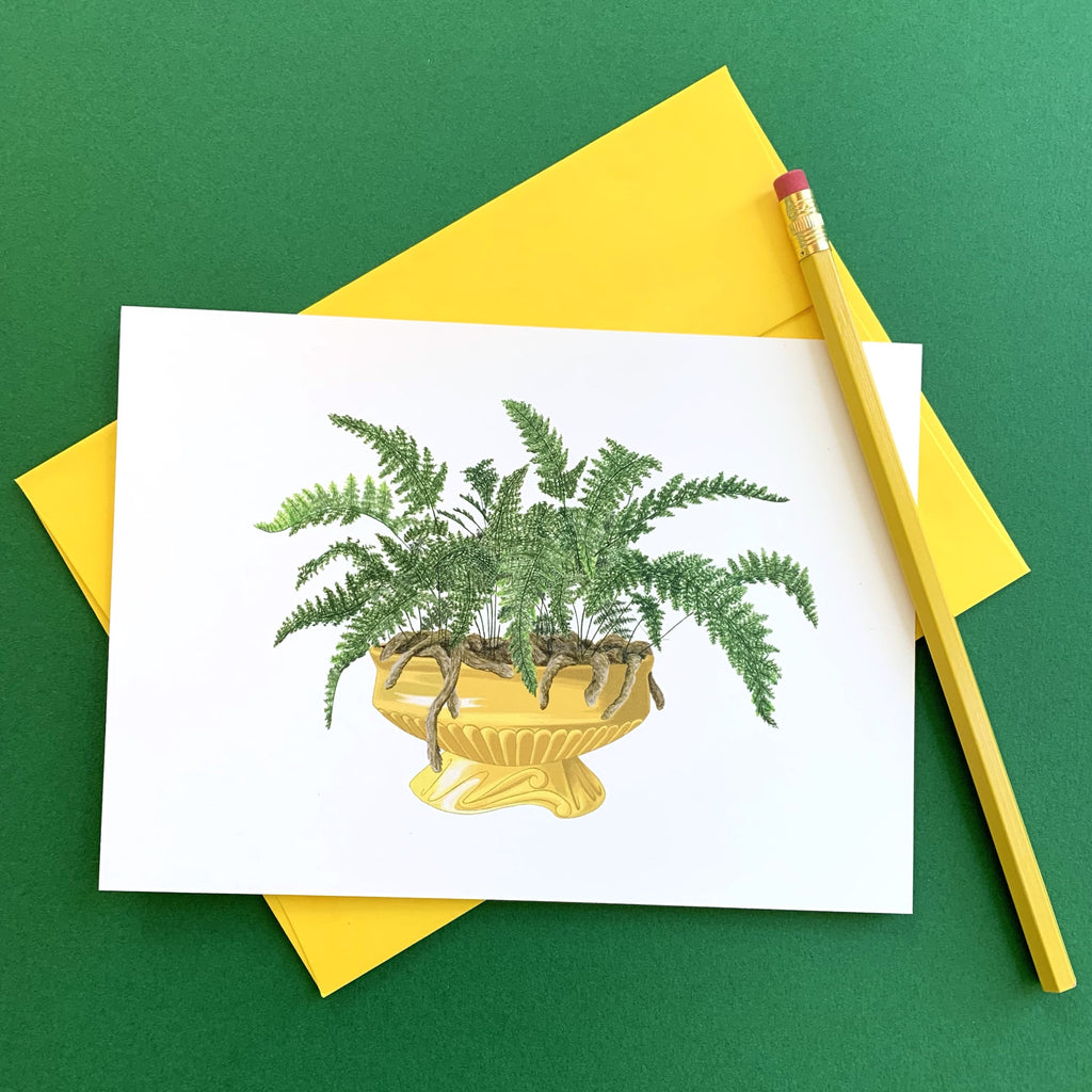 Rabbit's Foot Fern Notecard