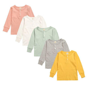 Spark Sisters Henley Pyjama Set White, Grey, Mint, Pink, Mustard Children affordable clothing