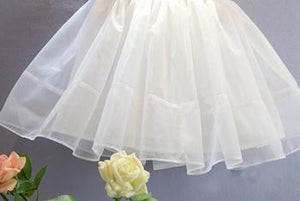 Sabelle Boutique | White Chiffon Princess Dress with Bow