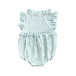 Spark Sisters High Collar Romper Spearmint Boho baby fashions