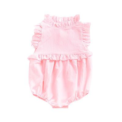 Spark Sisters High Collar Romper Pink Boho baby fashions