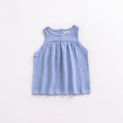 Spark Sisters linen tank blue vintage classic toddler clothing boho