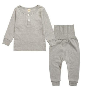 Spark Sisters Henley Pyjama Set Grey Children affordable clothing