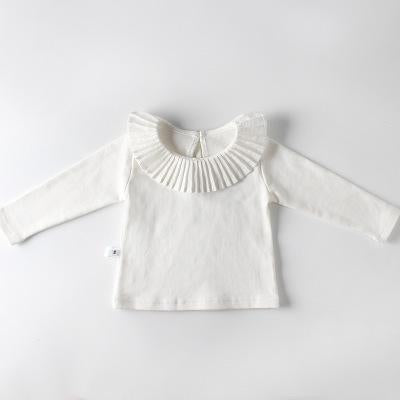Spark Sisters Pleated Collar Long Sleeve White Boho childrens fashion