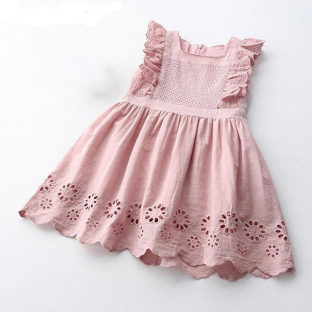 Pink Cotton Broderie Dress from Sabelle Boutique