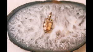Imperial Topaz crystal pendant