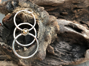 Gold and silver sacred geometry pendant