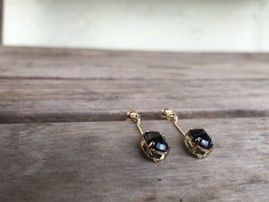 14ky Sapphire drop earrings