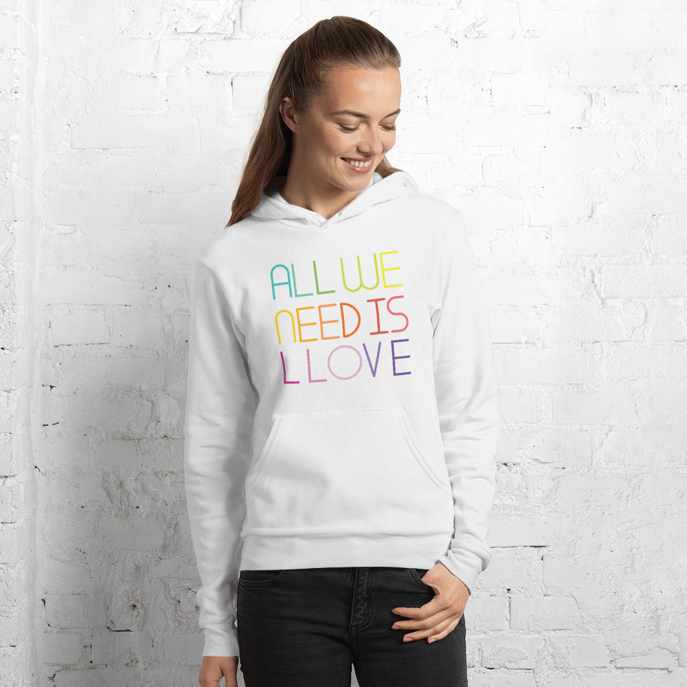 all we need is llove Unisex hoodie