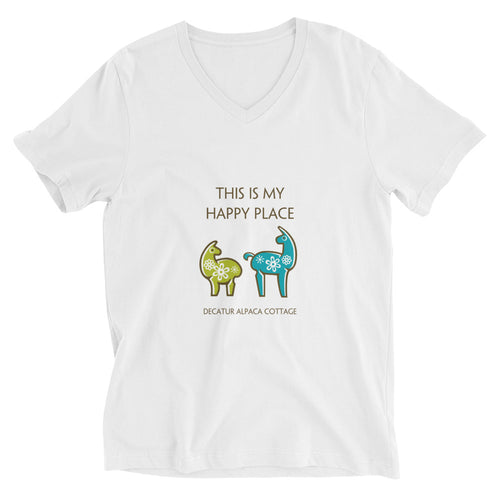 Happy Place ~ Unisex Short Sleeve V-Neck T-Shirt