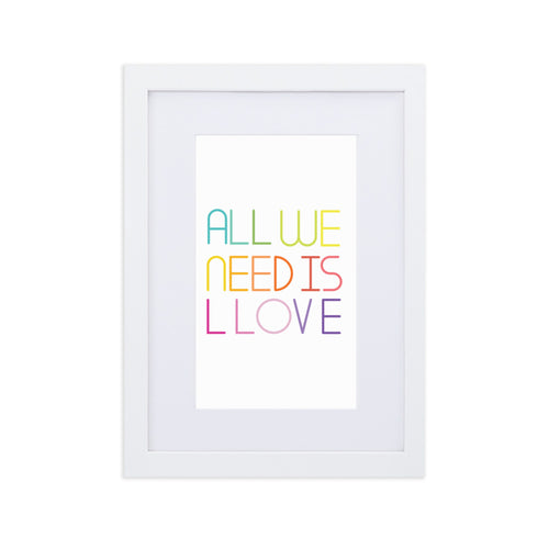 all we need is love wall art