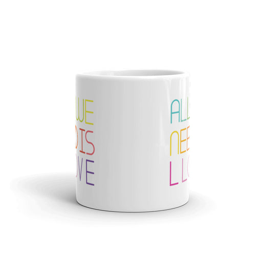 all we need is love mug
