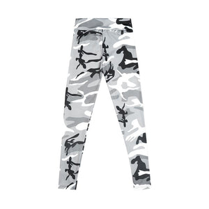 ARMY GIRL Camouflage Print Leggings White