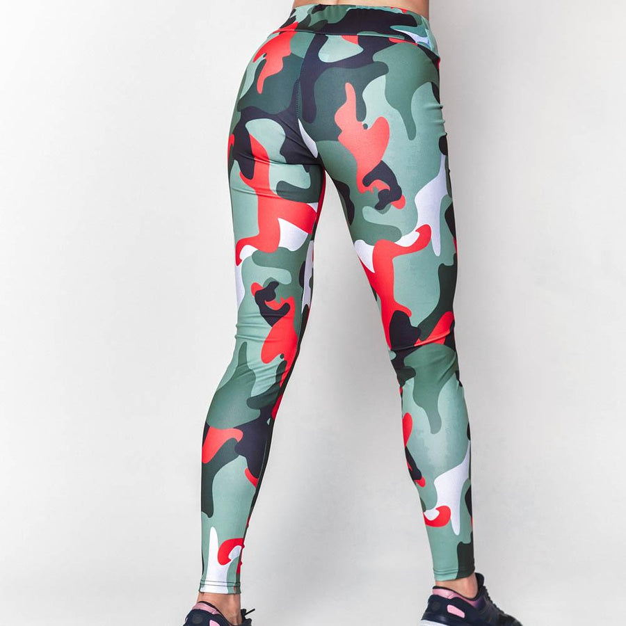 ARMY GIRL Camouflage Print Leggings