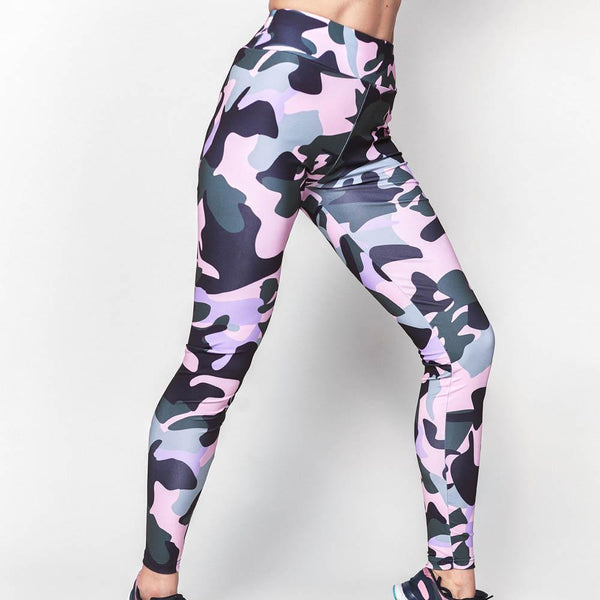 ARMY GIRL Camouflage Print Leggings Pink