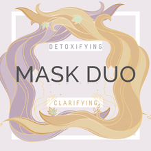 Load image into Gallery viewer, Detoxifying & Clarifying Double Masking Duo