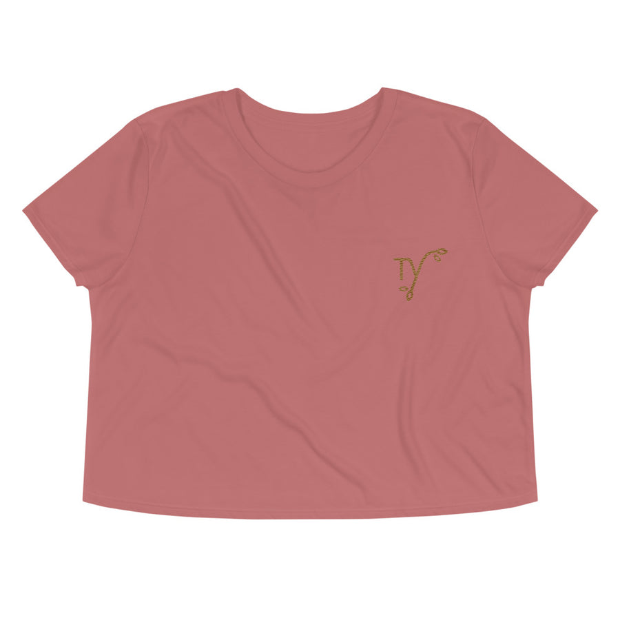 Embroidered TY Crop Tee