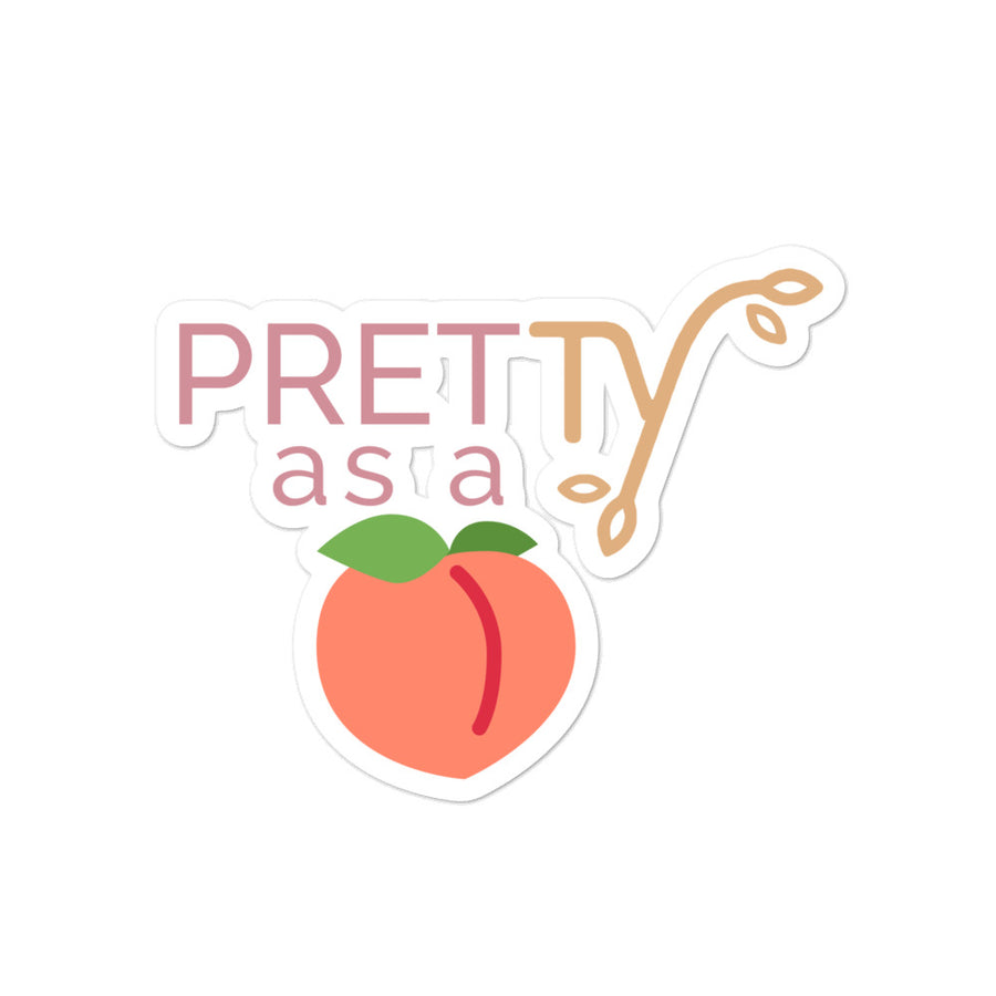 Pretty as a Peach Sticker