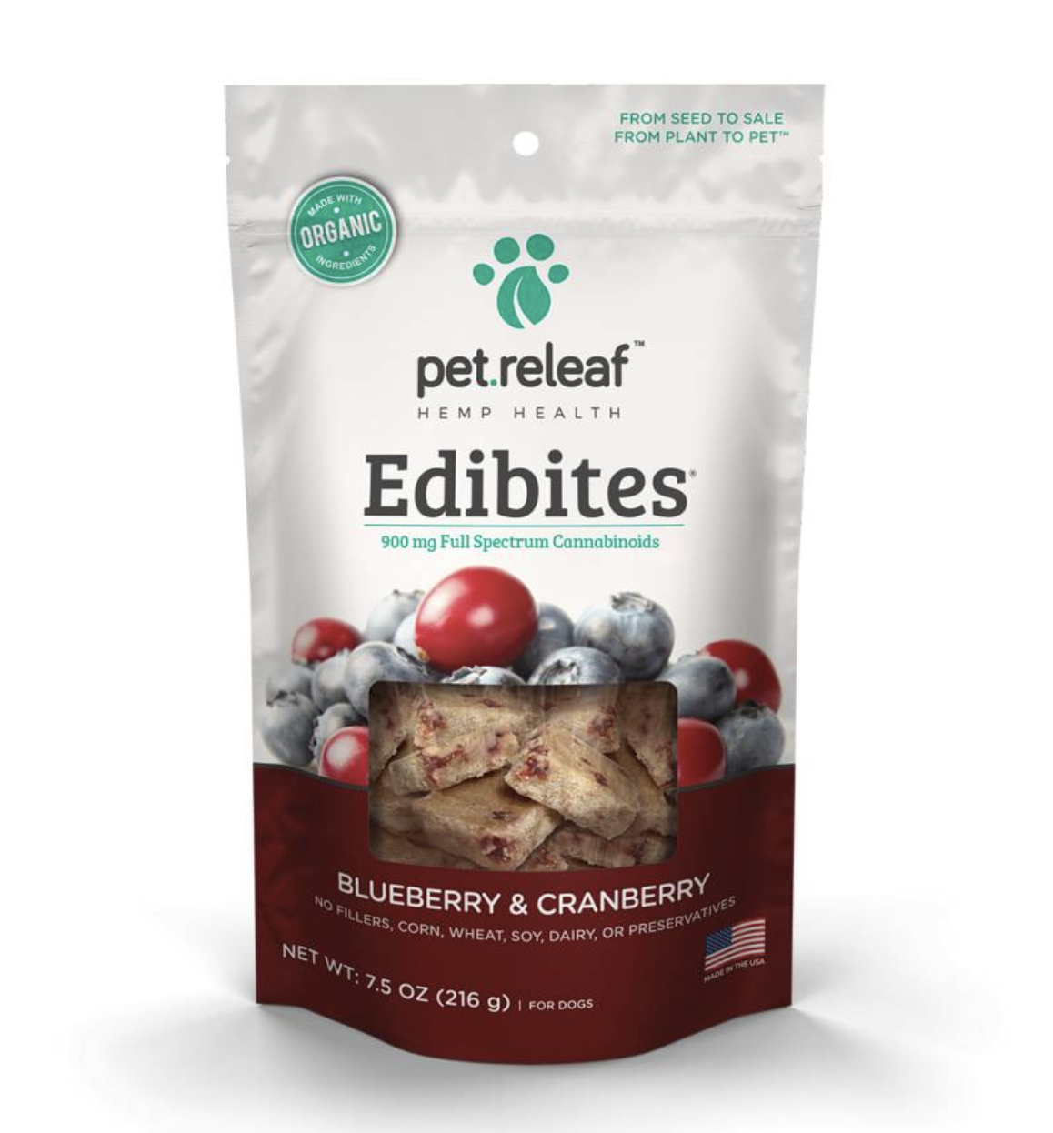 Pet Releaf Edibites - Blueberry & Cranberry