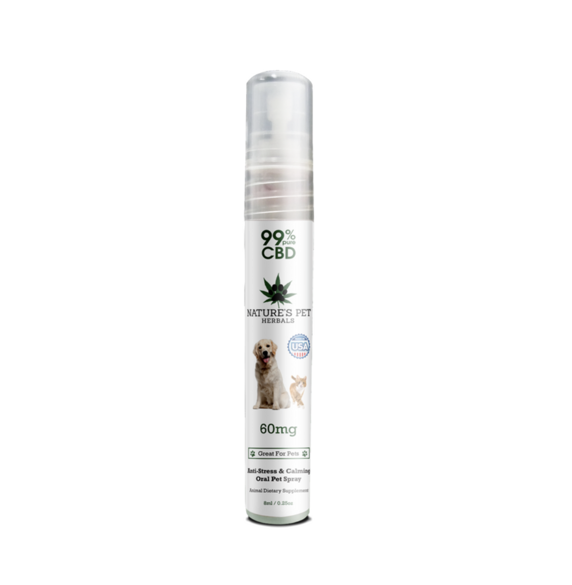 Nature's Pet Herbals CBD Pet Oil Spray for Anxiety