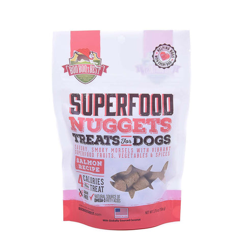 Boo Boo's Best SuperFood Nuggets Dog Treats - Salmon