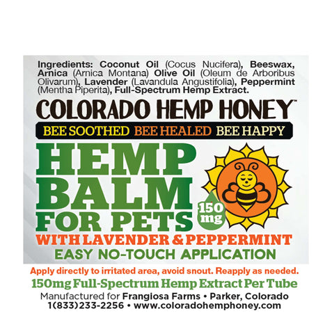 Colorado Hemp Honey Pet Balm with Lavender and Peppermint