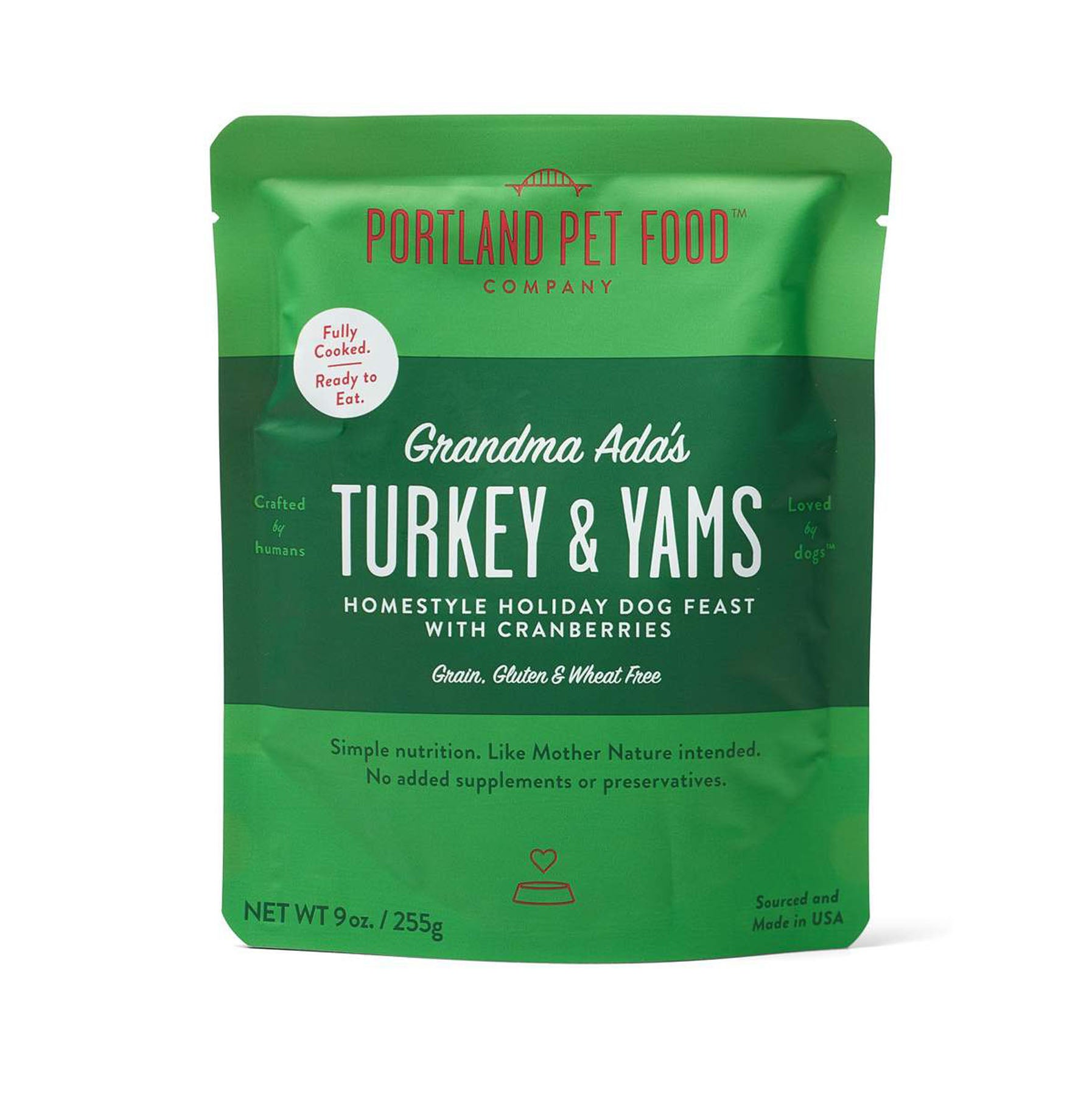 Portland Pet Food Company Grandma Ada's Turkey and Yams Feast