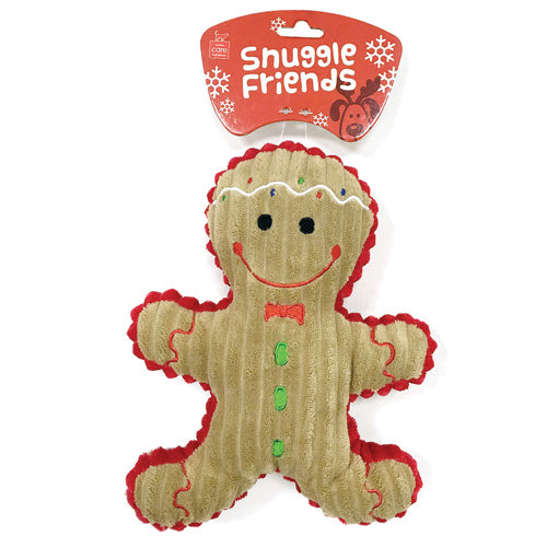 Christmas Gingerbread Man Plush Dog Toy