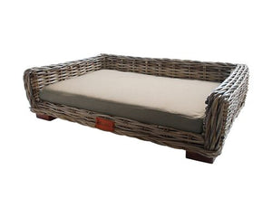Open image in slideshow, Barkley & Bella Wicker Lounge Dog Bed - Small