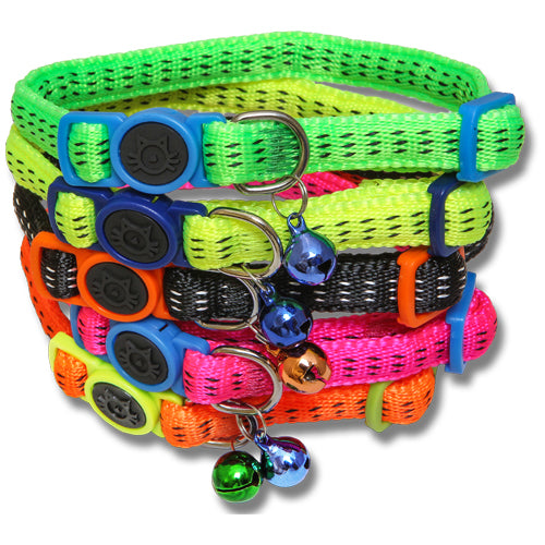 Nylon Cat Collar Padded With Safety Buckle