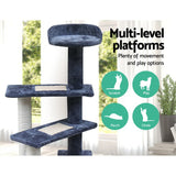 i.Pet 100cm Multi Level Cat Scratching Tree - Grey FREE SHIPPING