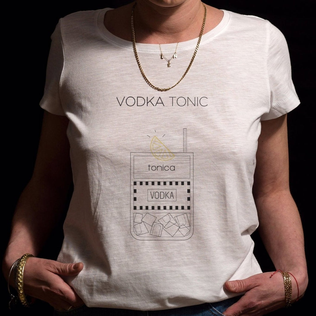 VODKA TONIC - DONNA - t-shot Milano