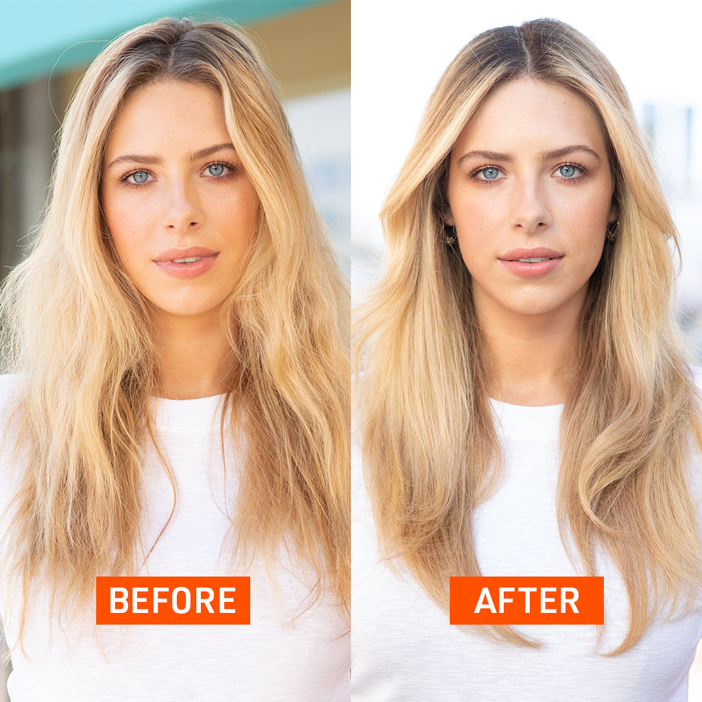 Jessica Surowiec before and after how to get a lived-in blowout