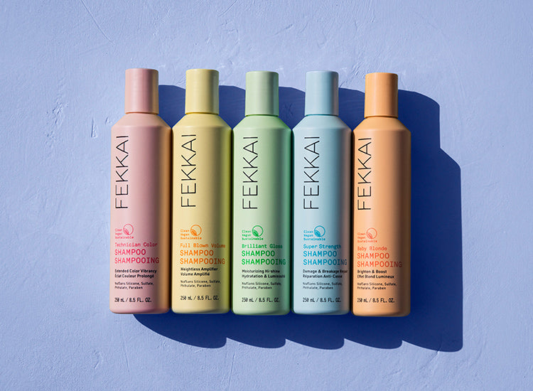 FEKKAI Shampoo Collection for hair color fading