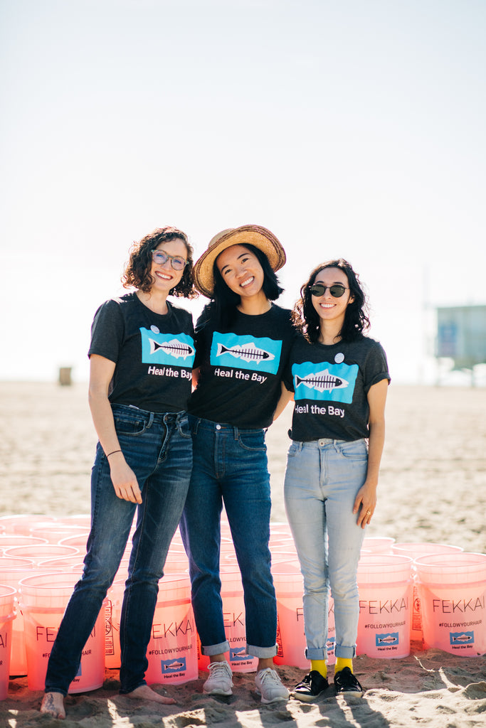 Heal The Bay team at the FEKKAI Takes Santa Monica Pier event on Santa Monica Beach