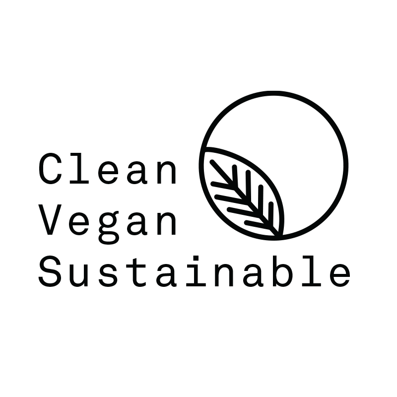 clean vegan sustainable leaf logo