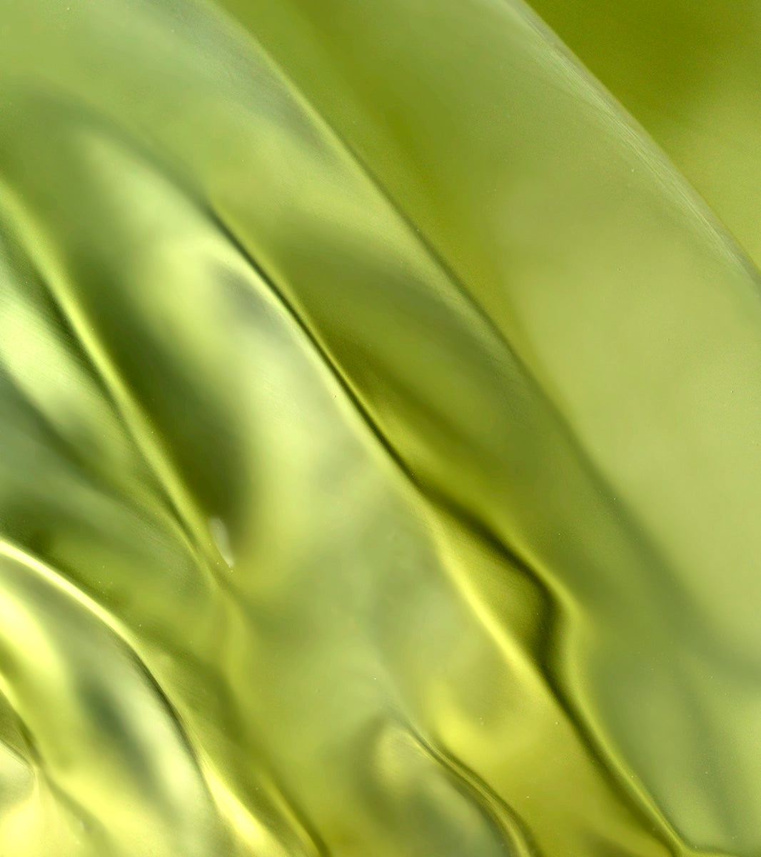 green silk with folds
