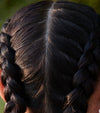 fekkai model with braided hair and scalp for cbd