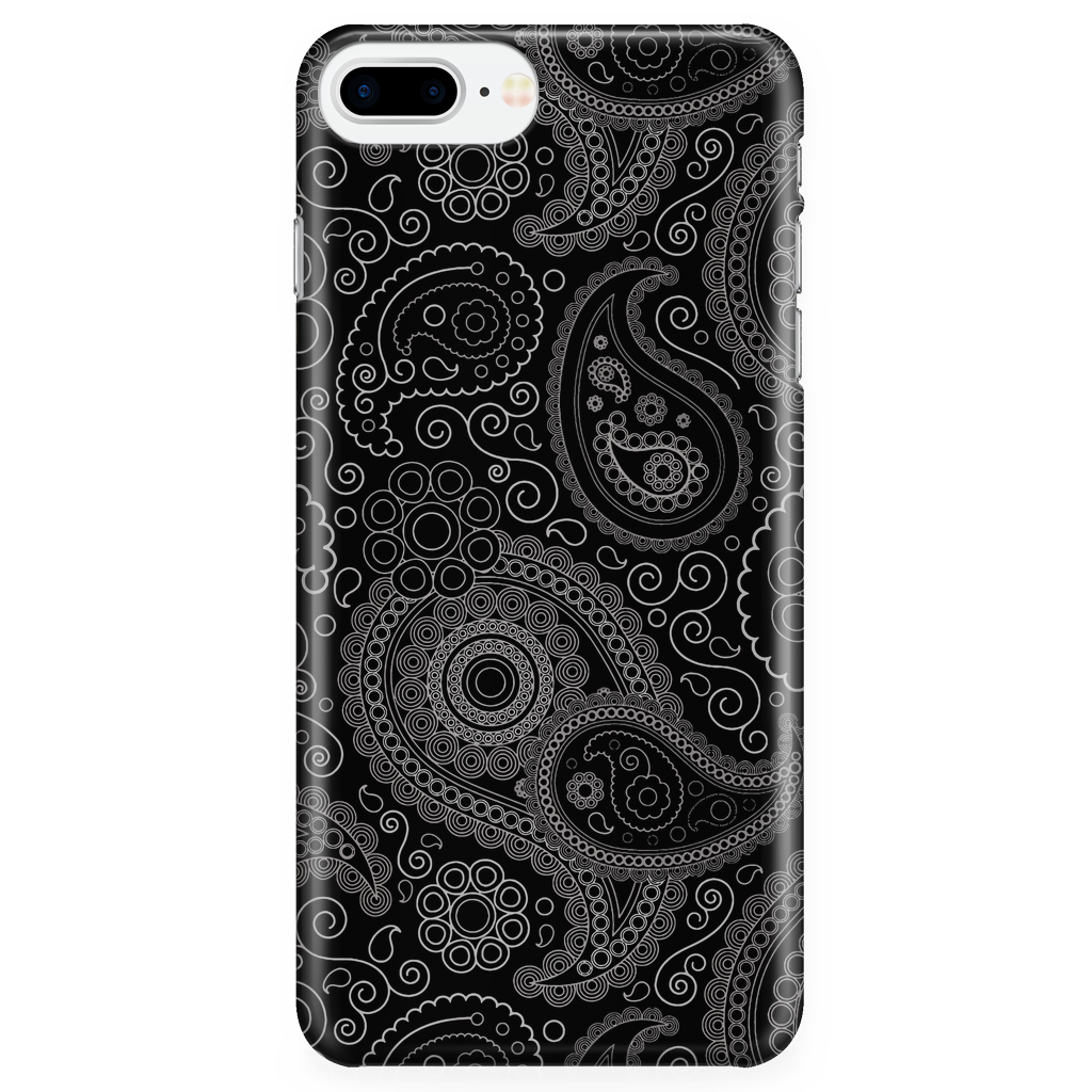 Paisley Phone Case Black - Elegant Art for iPhone and Samsung Galaxy