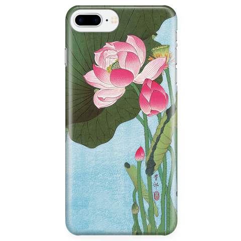Floral Phone Case - Lotus Japan Ohara Koson Ukiyo-e - iPhone, Galaxy