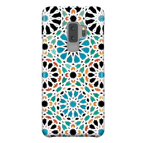 Alhambra Nasrid - Islamic Pattern Geometric Arabic Ornament Mosaic Phone Case for Samsung Galaxy S9 Plus