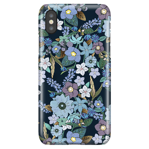Jardin Bleu - Cute Floral Phone Case for iPhone X/XS