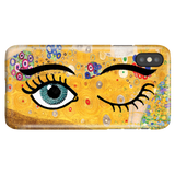 Funny Unique iPhone Case iPhone X/XS, Gustav Klimt - Kiss & Wink