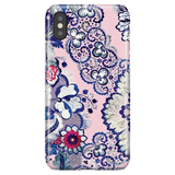 Cute Floral iPhone XS Case iPhone X - Indigo Blush