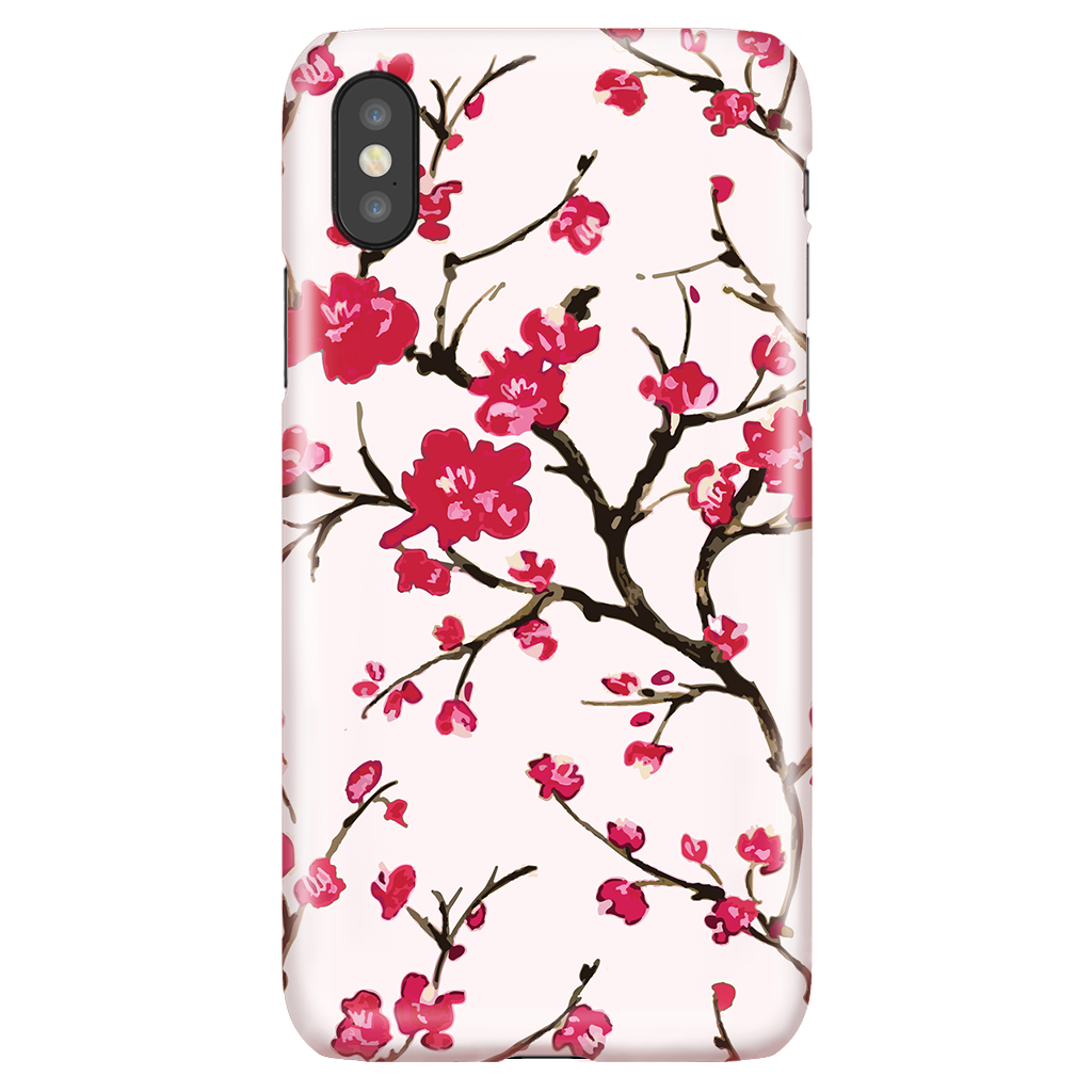Cherry Blossom - Cute Floral Phone Case for iPhone X/XS