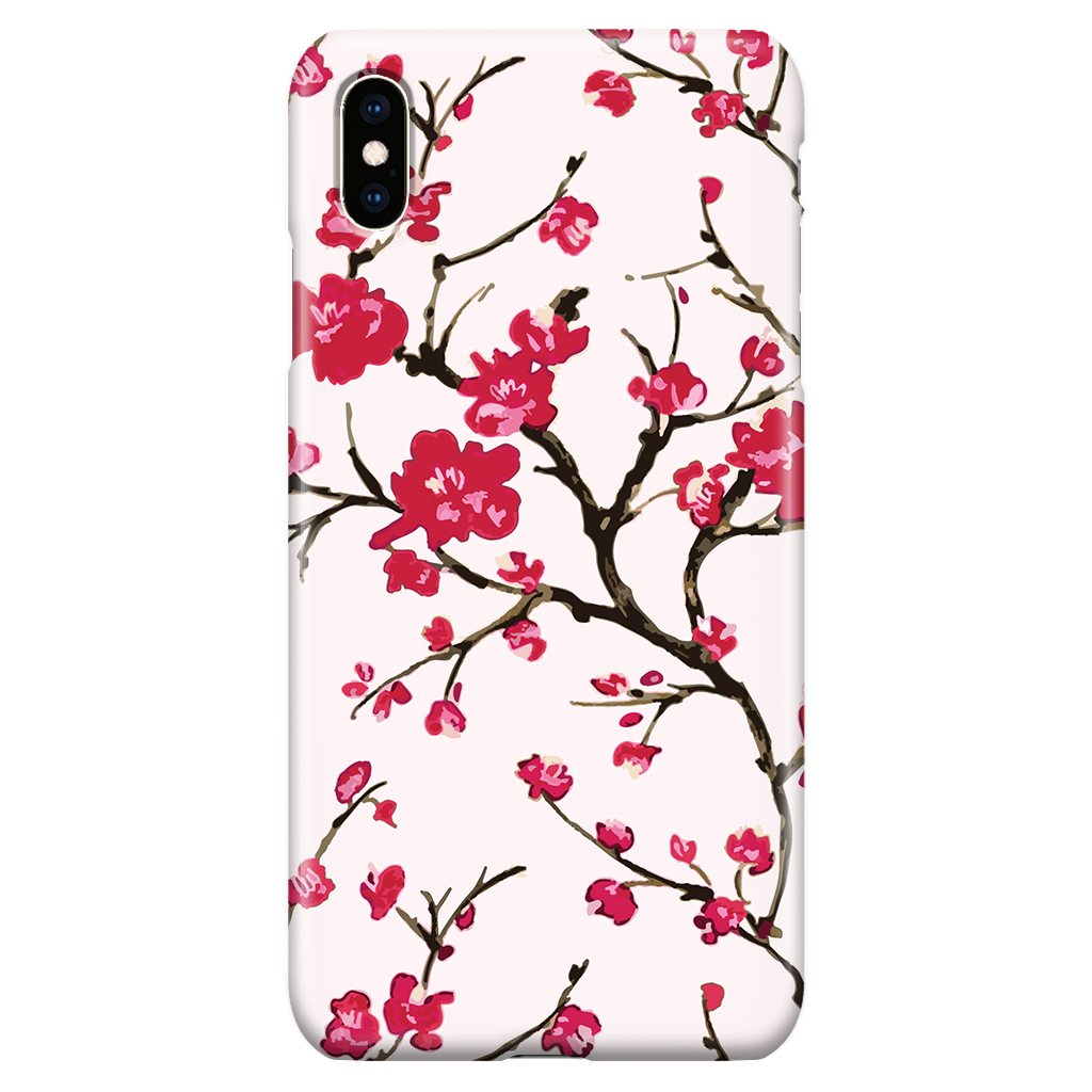 Cute Floral Phone Case for iPhone XS Max - Cherry Blossom Sakura Japan