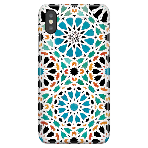 Alhambra Nasrid - Cute Mosaic Phone Case for iPhone X/XS