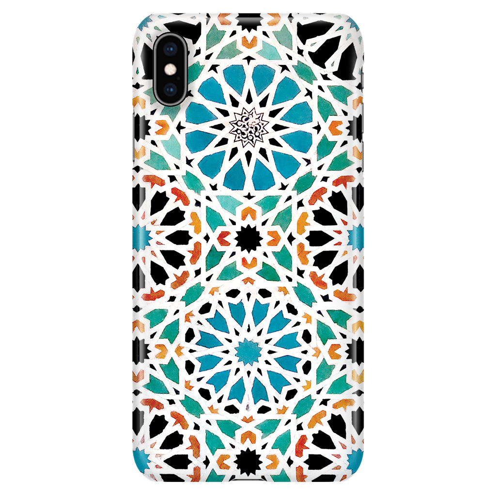 Alhambra Nasrid iPhone XS Max - Vintage Mosaic Phone Case