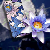 Blue Lotus - Cute Phone Case for iPhone and Samsung Galaxy